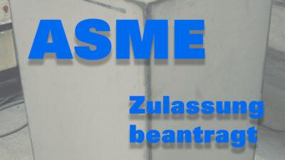 ASME Zulassung